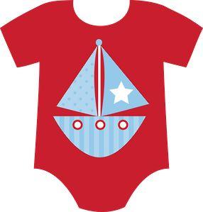 BABY BOY ONESIE CLIP ART.