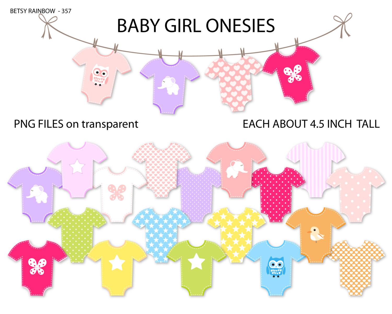 Baby Girl onesie clipart Baby girl onesies clip art.