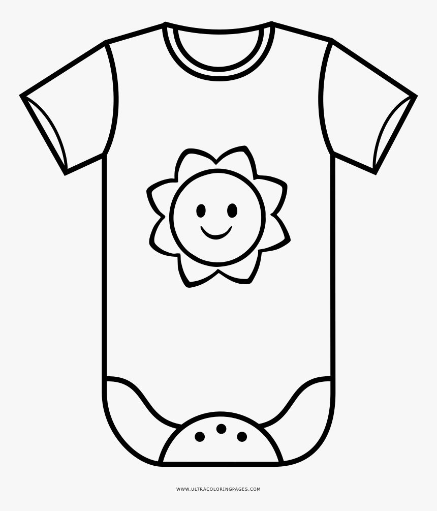 Transparent Baby Onesie Clipart Black And White.