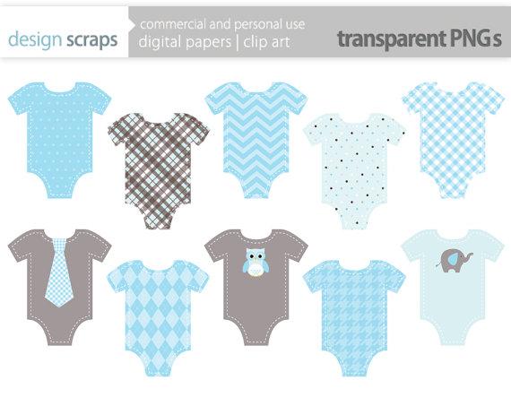 boy onesie clip art graphics blue onesies digital by designscraps.