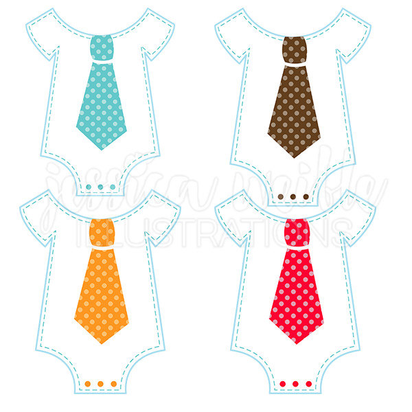 Fun Tie Onesie Cute Digital Clipart Commercial Use OK Cute.