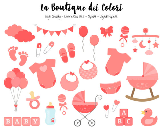Red Baby Clipart, Cute Graphics PNG, Scrapbook Invitation baby.