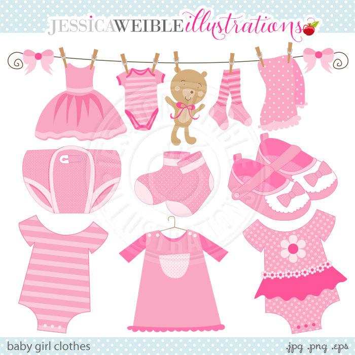 Cute Pink Baby Onesie Clipart.