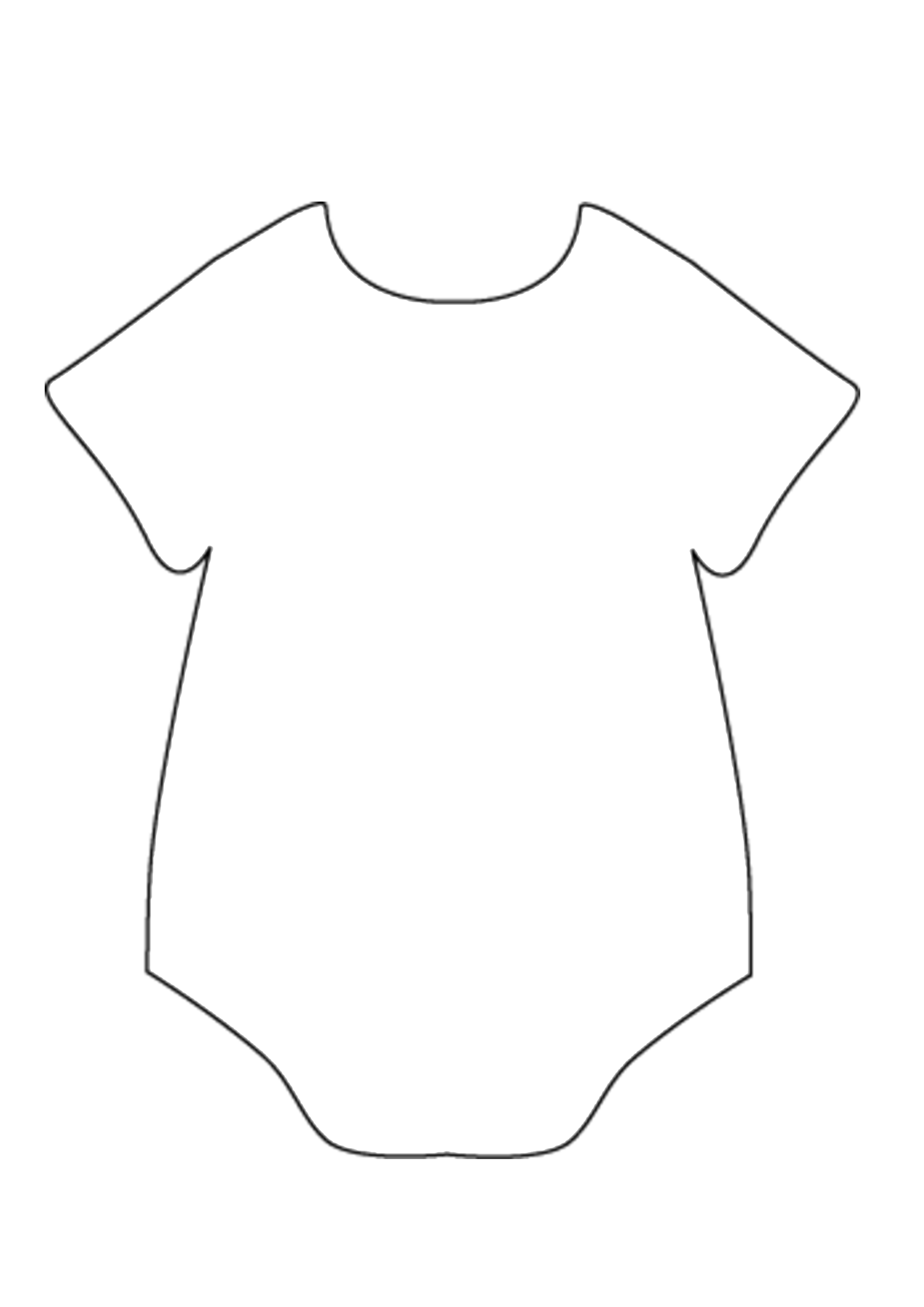 Baby Onesie Outline Free Download Clip Art.