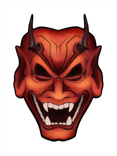 Download Oni Mask Clipart HQ PNG Image.