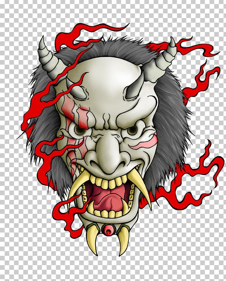 Oni Mask Tattoo PNG, Clipart, Art, Carnivoran, Demon.