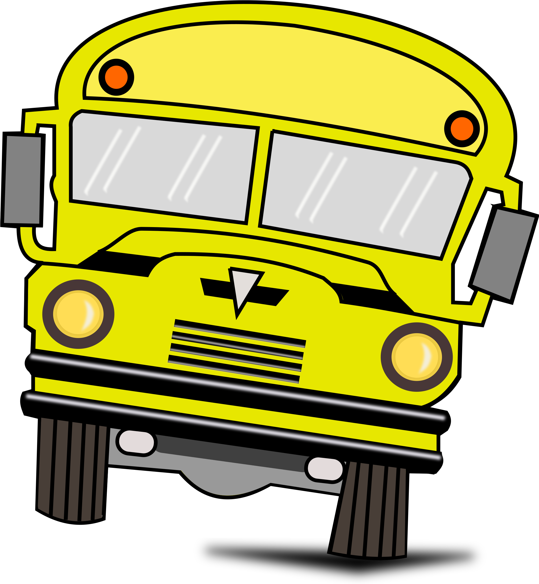 HD Red School Bus Clipart , Png Download.