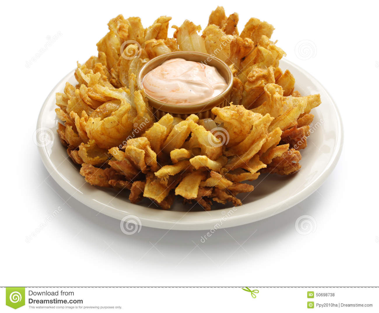 Fried Onion Blossom Stock Photo.