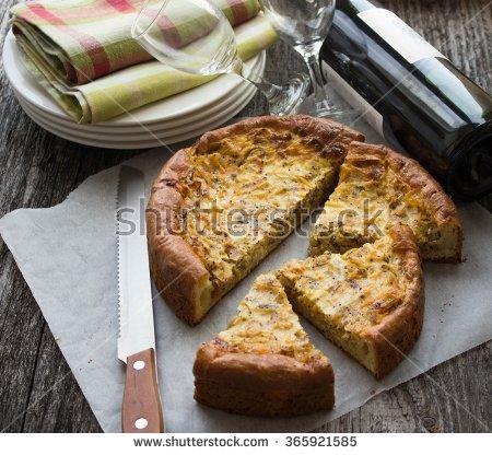 "onion Pie"" Stock Photos, Royalty."