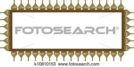Clipart of Frame with Onion Domes k10810153.