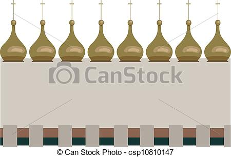 EPS Vector of Frame with Onion Domes.