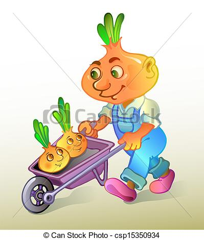 Vectors of Onion farmer plants a harvest. Vector illustration.