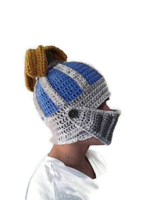 Blue Onion Helm FFXIV Knight Helmet Hat Youth or Adult Men by.