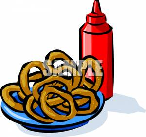 Onion Rings Clipart.