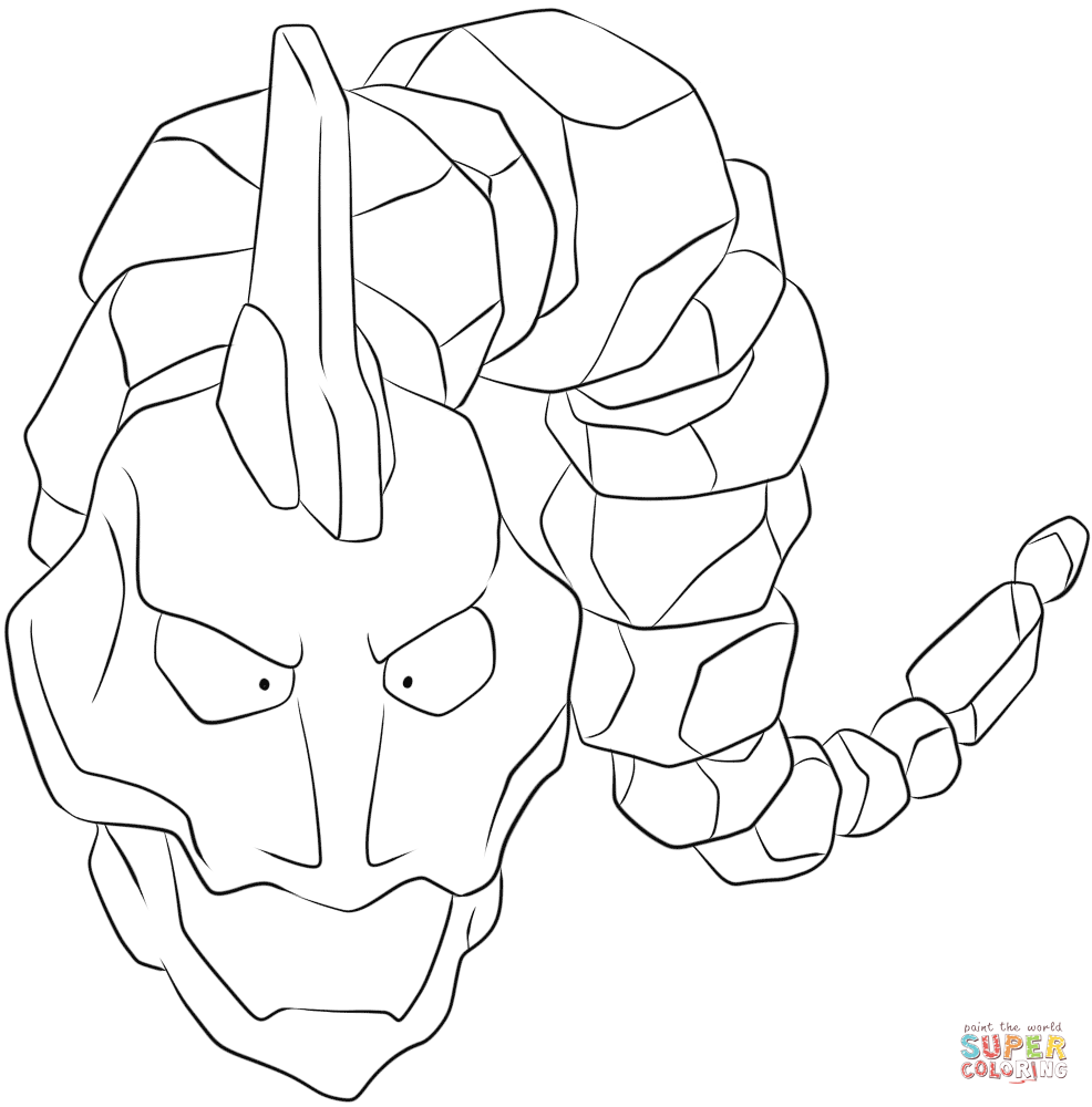 Pokemon Coloring Pages Onix.