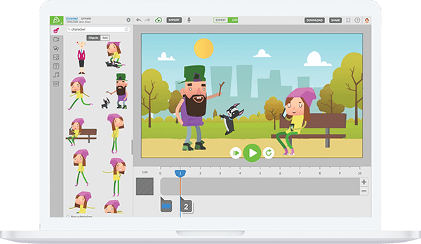 Marketing video editor and animation maker.