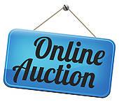 Online auction clipart.