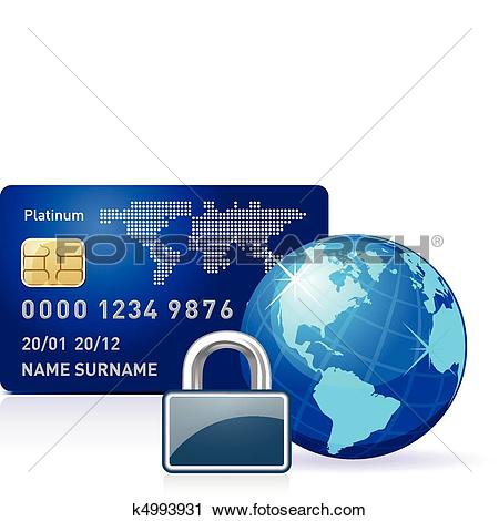 Clipart of Internet Banking Lock k4993931.