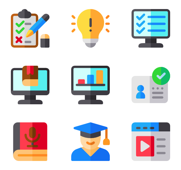 Online booking Icons.