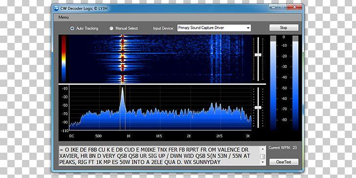 Computer Software Electronics Sound Binary Decoder Display.