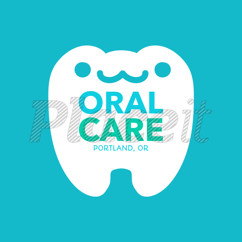 Online Logo Maker for Pediatric Dentists with Smiling Tooth Clipart 1284b.