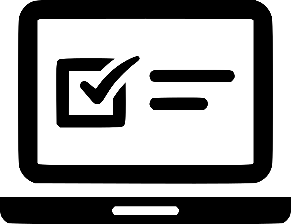 Laptop Exam Online Questionnaire Web Svg Png Icon Free.