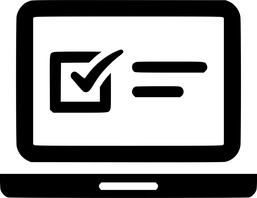 Download Free png Laptop Exam Online Questionnaire Web Svg.