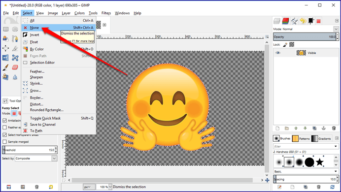 How To Make Image Background Transparent Using GIMP.