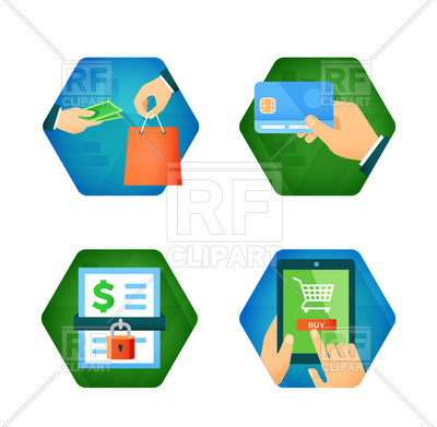 Online Payment Clipart.