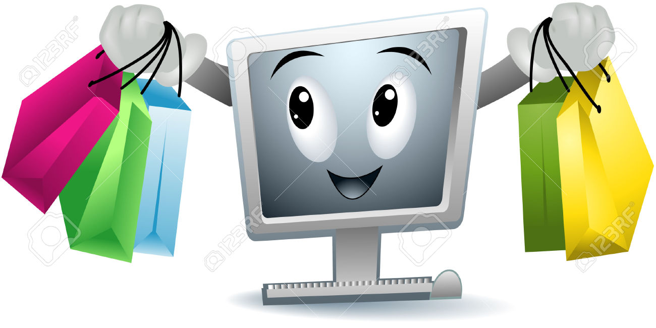 Clip art online shopping.