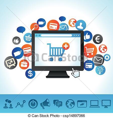 Online clipart shops.