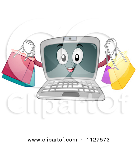 Clipart of a Brunette Caucasian Woman Making Purchases or Travel.
