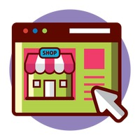 Online shopping Vector Image.