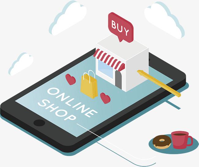 Online Shopping Model, Vector Png, Shopp #17099.