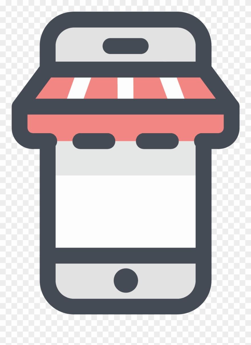 Mobile Shopping Icon.