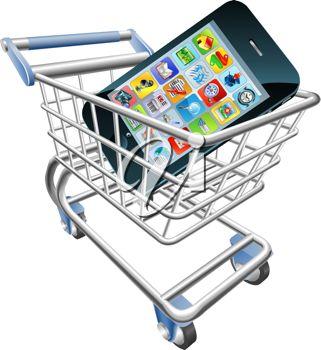 Online Shopping Cart Clipart.