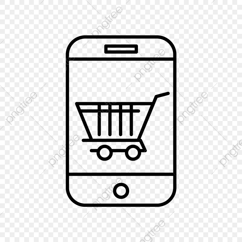 Vector Online Shopping Icon, Cart Icon, Trolley, Cargo PNG.
