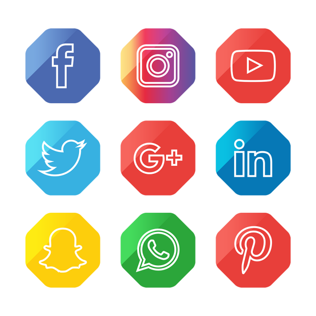 Social Media Icons Set, Social, Media, Icon PNG Transparent.