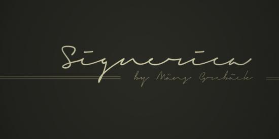 Signature Fonts.