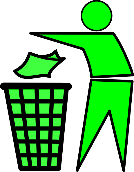 Trash only clipart.