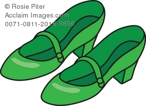 Royalty Free Clipart Illustration of Green Shoes.