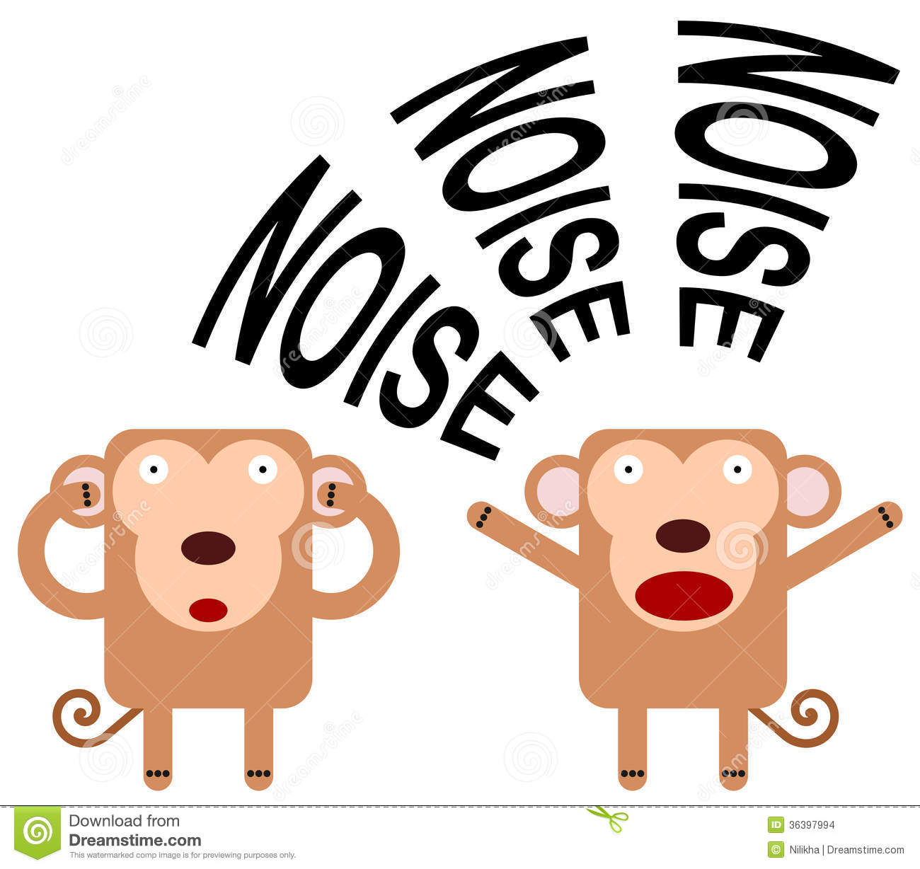 Animal Noise Clipart.