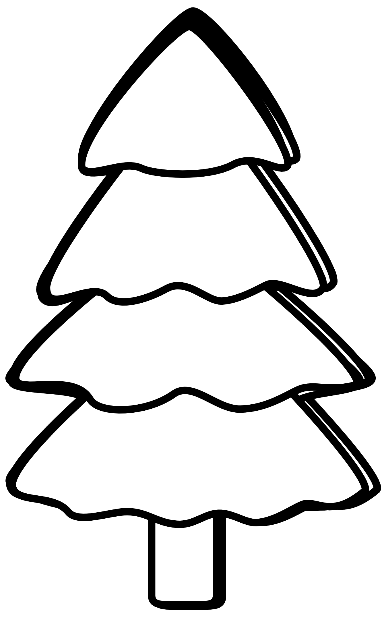 Black And White Tree Clipart.