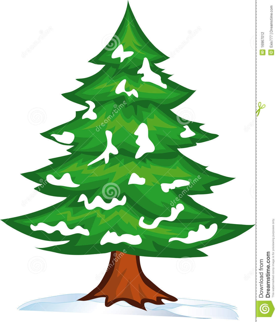 Pine Tree Outline Clip Art.