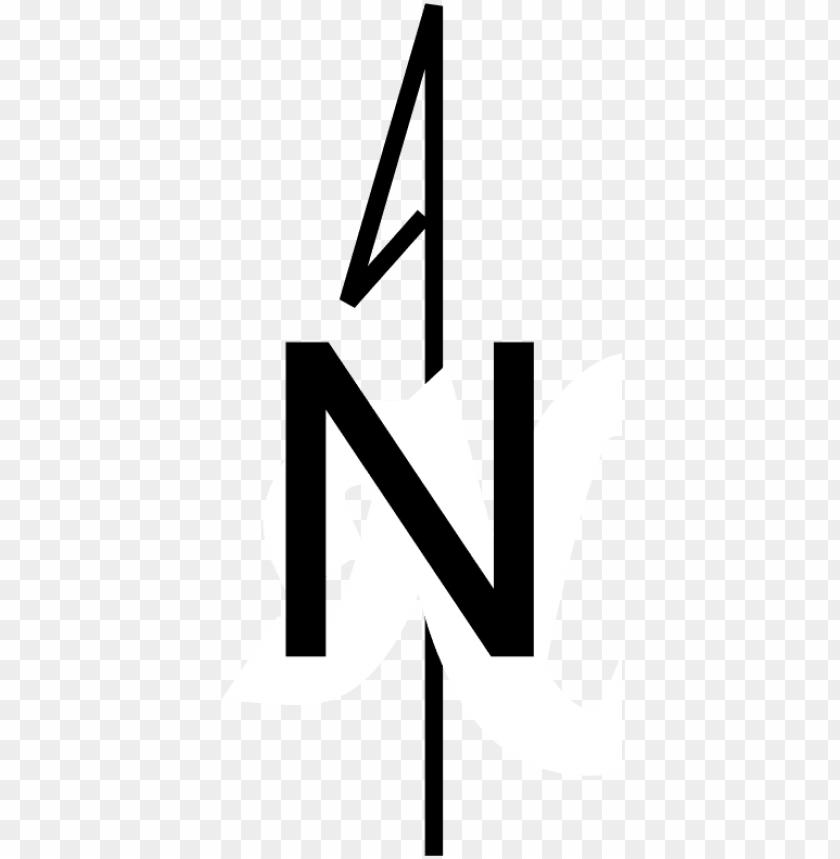 Download simple north arrow.