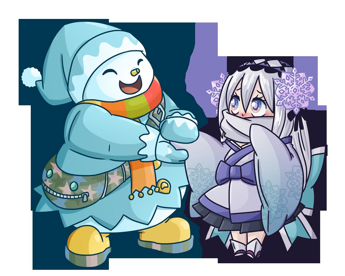 Ghostrick: Jackfrost and Yuki.