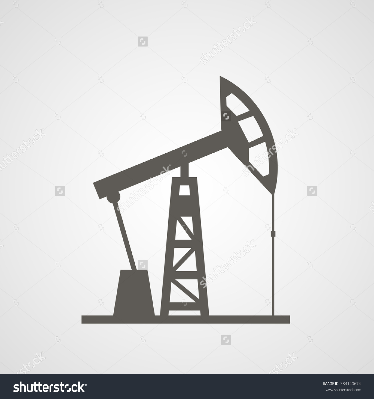 Onshore Oil Rig Stock Vector 384140674.
