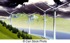 Onshore wind park Illustrations and Clipart. 6 Onshore wind park.