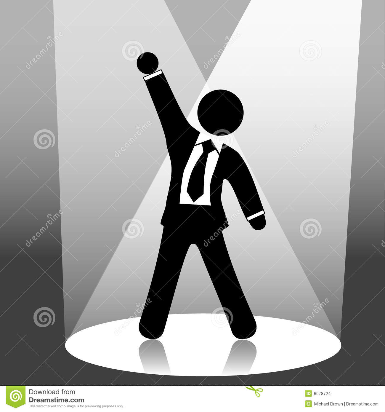 Man On Stage Clipart.