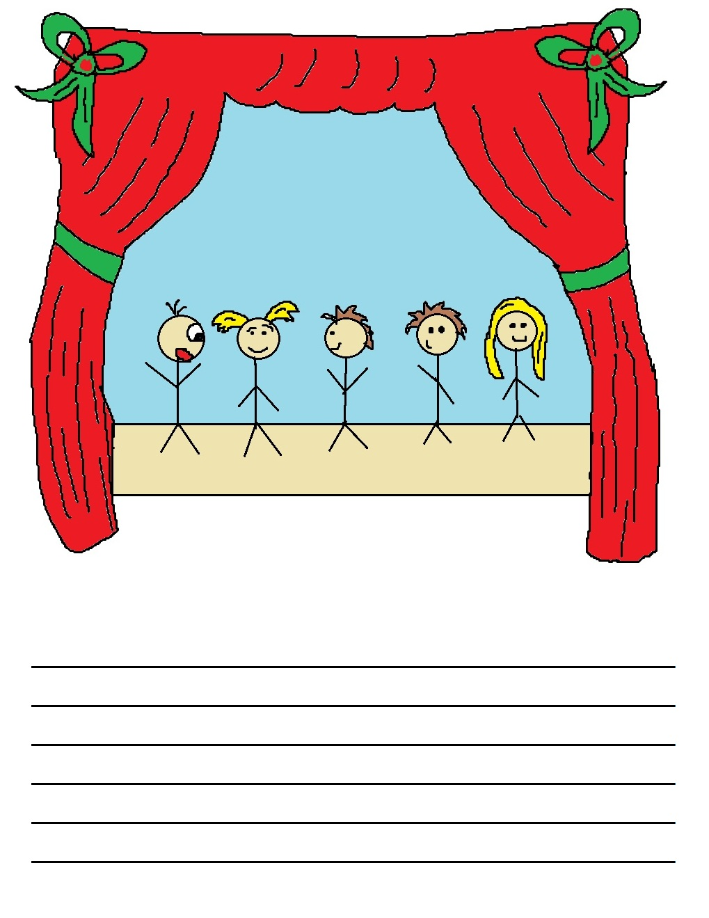 Acting on stage clipart.